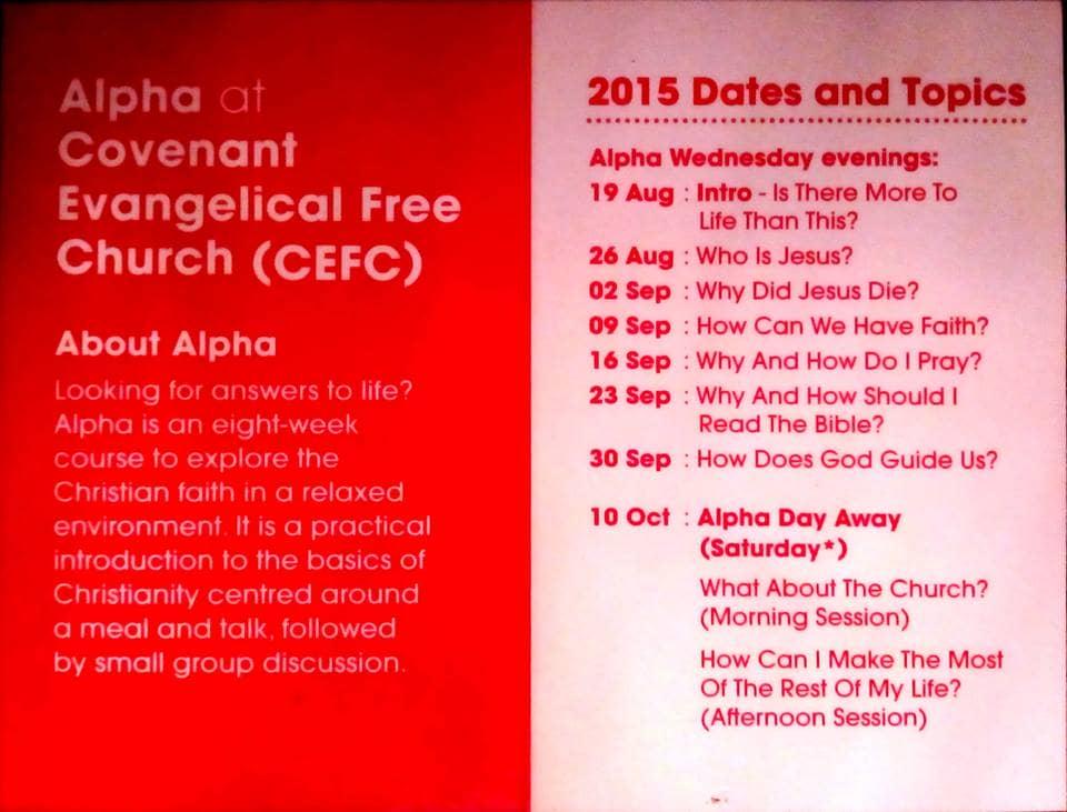 Contoh Jadwal dalam Kartu Undangan ALPHA Meeting