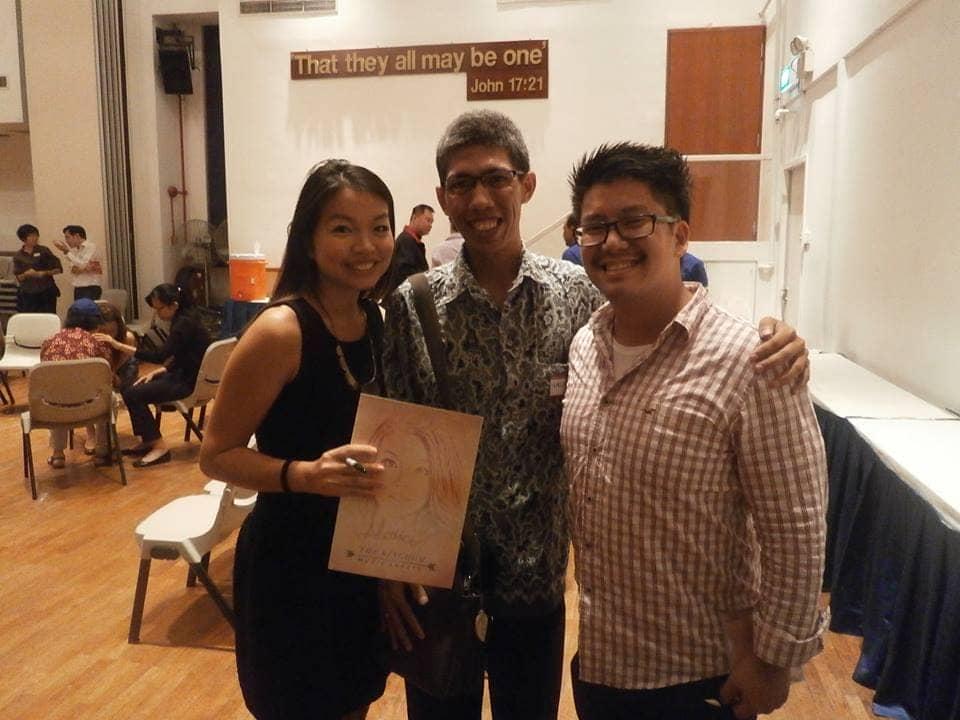 Bertemu dengan artis Singapura, ALARICE, di APLHA MEETING