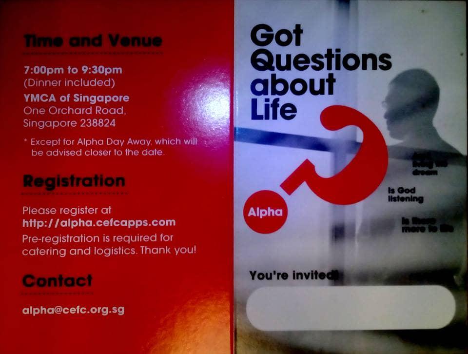 Belajar tentang ALPHA Meeting yang dilaksanakan CEFC Singapore