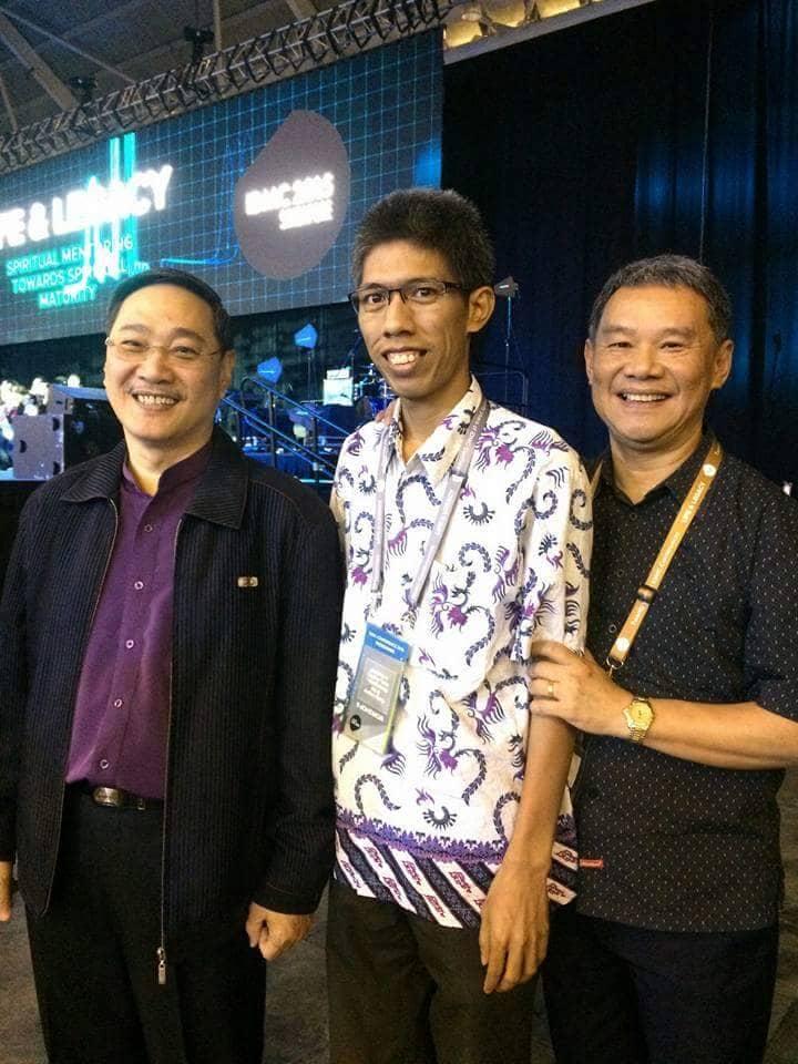 Bersama Pdt. Edmund Chand (Pemrakarsa Gerakan Pemuridan Global), dan Pastor Jeffrey dari Australia