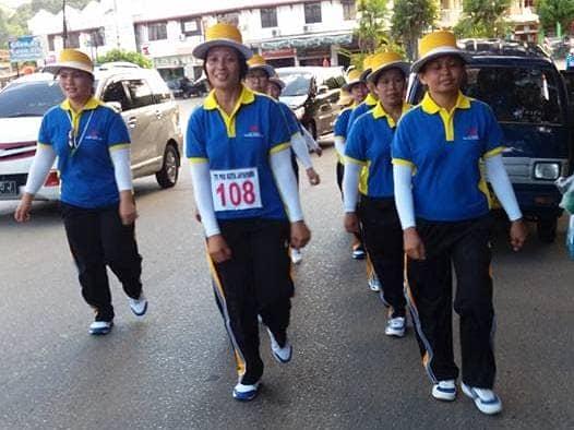 Gerak Jalan diikuti oleh guru SKKK Jayapura