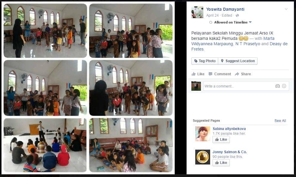 Pelayanan Sekolah Minggu
